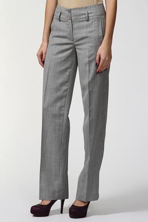 Расклешённые брюки с застежкой YETONADO. Цвет: светло-серый