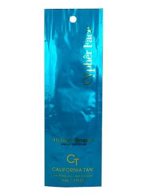 Крем для загара в солярии Cypher Face HiLite Bronzer (3 мл) California Tan. Цвет: бежевый