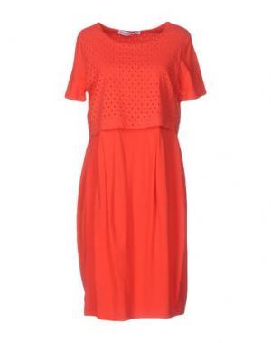 Платье до колена LA FABBRICA del LINO. Цвет: красный
