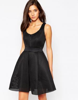 Little Black Dress Платье из сетчатой ткани Zooey. Цвет: черный