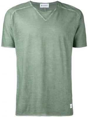 Расклешенная футболка Dondup. Цвет: зелёный