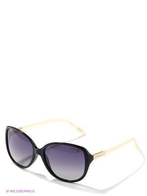 Солнцезащитные очки Polaroid. Цвет: черный, бежевый