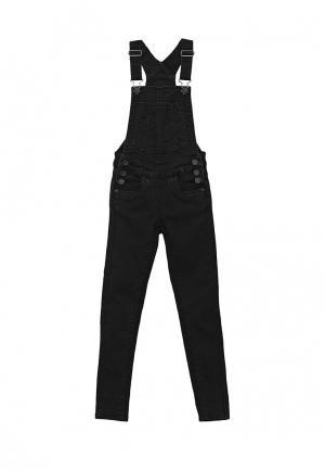 Комбинезон джинсовый Tom Tailor. Цвет: черный
