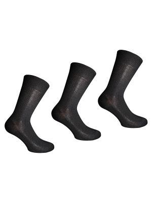 Носки, 3 пары Master Socks. Цвет: черный