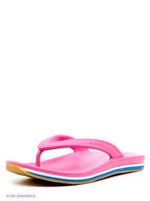 Пантолеты  Crocs Retro Flip-flop. Цвет: фуксия