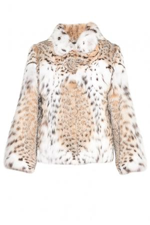 Шуба из меха рыси 181565 Pt Quality Furs. Цвет: бежевый