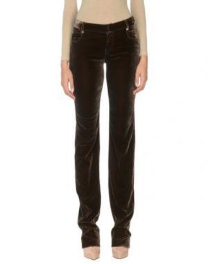 Повседневные брюки JEAN PAUL GAULTIER FEMME. Цвет: темно-коричневый