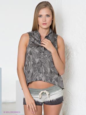 Блузка VANS. Цвет: серый