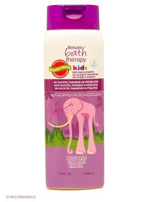 Детский гель для душа и шампунь волос Сладкий виноград Bath Therapy. Цвет: сиреневый