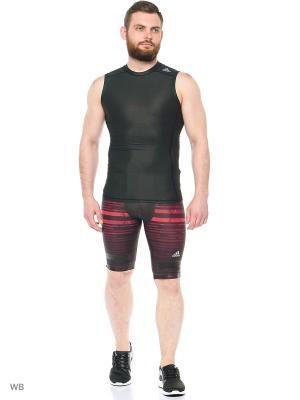 Компрессионные шорты Adidas. Цвет: черный, розовый