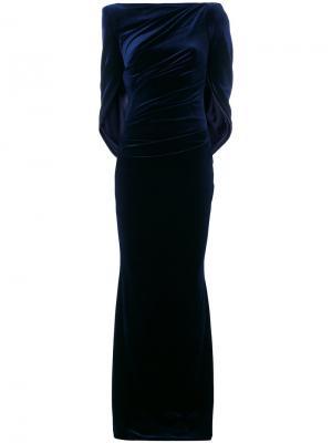 Платье Konica Talbot Runhof. Цвет: синий