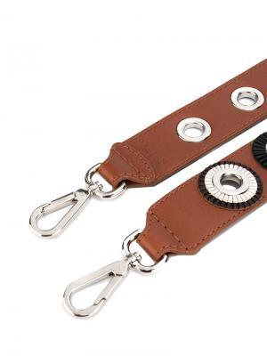 Съемная лямка на сумку Orciani. Цвет: коричневый