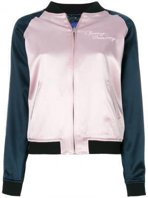 Куртка бомбер с вышивкой Opening Ceremony. Цвет: розовый и фиолетовый