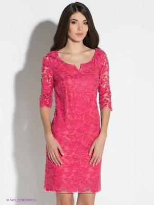 Платье Vera Mont. Цвет: малиновый