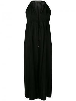 Платье миди с вырезом-халтер Plein Sud. Цвет: чёрный