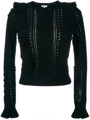 Вязаный свитер Manoush. Цвет: чёрный