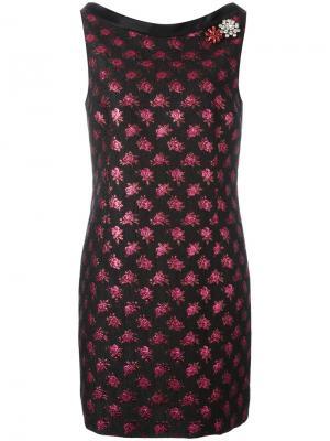 Жаккардовое платье Marc Jacobs. Цвет: чёрный