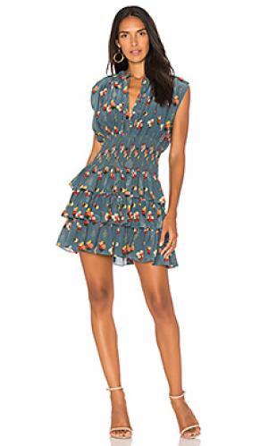 Платье ruffle jane Carolina K. Цвет: синий