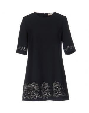 Короткое платье VICOLO. Цвет: темно-синий