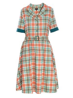 Платье Sarafan. Цвет: оранжевый
