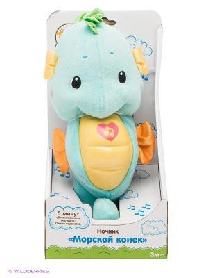 Ночник Морской конек Жирафики. Цвет: голубой