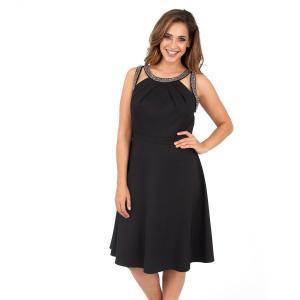 Платье до колен без рукавов KOKO BY. Цвет: черный