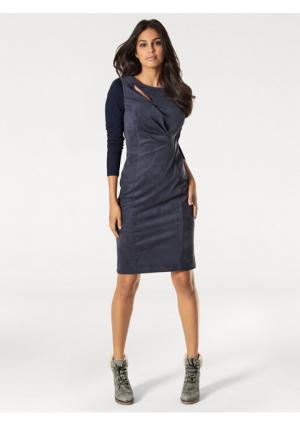 Платье Rick Cardona. Цвет: темно-синий