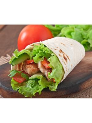 Картина тортилья Ecoramka. Цвет: салатовый, красный, светло-коричневый