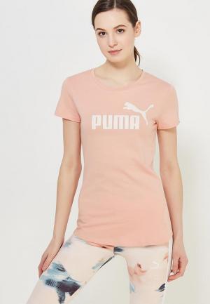 Футболка спортивная PUMA. Цвет: бежевый
