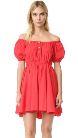 Платье Bardot Caroline Constas. Цвет: красный
