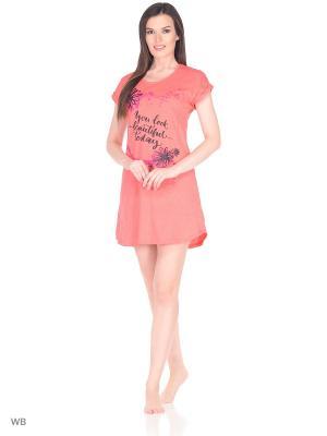 Ночная сорочка Magwear. Цвет: коралловый