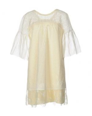 Короткое платье TILL.DA. Цвет: светло-желтый