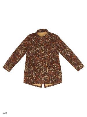 Куртка Sisley Young. Цвет: коричневый