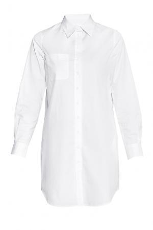 Рубашка-туника из хлопка 173138 Cyrille Gassiline. Цвет: белый