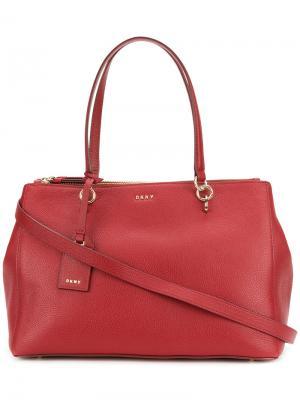 Большая сумка-шоппер DKNY. Цвет: красный