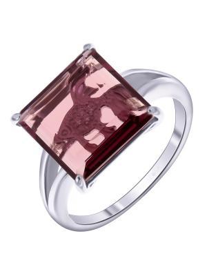 Кольцо Teosa. Цвет: серебристый, лиловый, фиолетовый