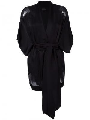 Короткое кимоно Carine Gilson. Цвет: чёрный