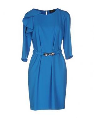 Короткое платье MALAICA. Цвет: лазурный