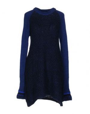 Короткое платье AKEP. Цвет: синий
