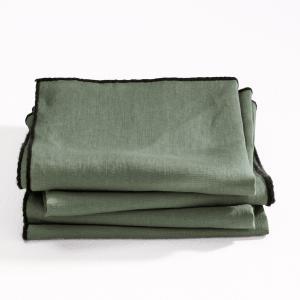 Салфетки Suzy из 100% льна (комплект 4 шт.) AM.PM.. Цвет: лаймовый,серый,хаки светлый