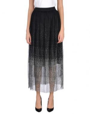 Длинная юбка EDWARD ACHOUR. Цвет: черный