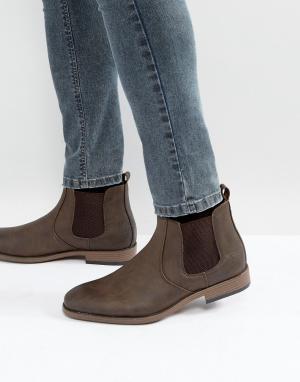 River Island Коричневые ботинки челси. Цвет: коричневый