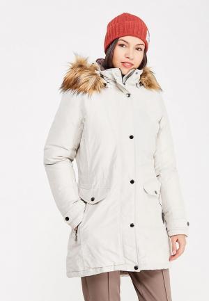 Куртка утепленная Luhta. Цвет: белый