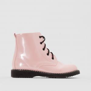 Ботинки лакированные R édition. Цвет: перламутрово-розовый