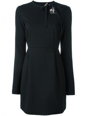 Декорированное платье Nº21. Цвет: чёрный