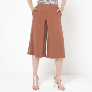 Юбка-брюки La Redoute Collections. Цвет: коньячный