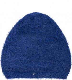 Синяя шапка из полиамида Guess. Цвет: синий
