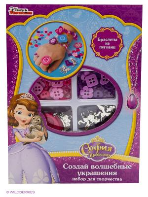 Набор для создания украшений из пуговиц  Disney София прекрасная Multiart. Цвет: фиолетовый