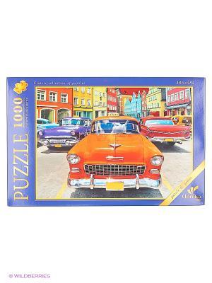 Пазлы 1000 элементов Оранжевый автомобиль Канц-Эксмо. Цвет: оранжевый