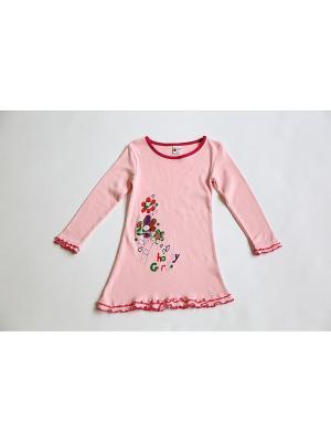 Ночная сорочка Iota. Цвет: розовый